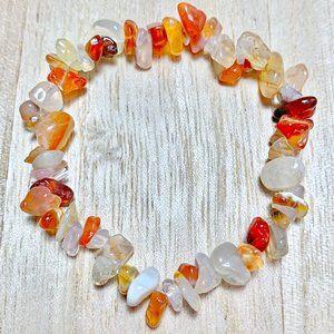 Orange Handmade Chakra Chip Bead Bracelet Boho